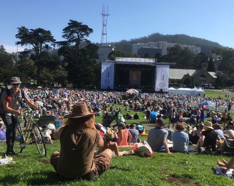 Hippie Hill is an interesting place to meet people at San Francisco's Golden Gate Park