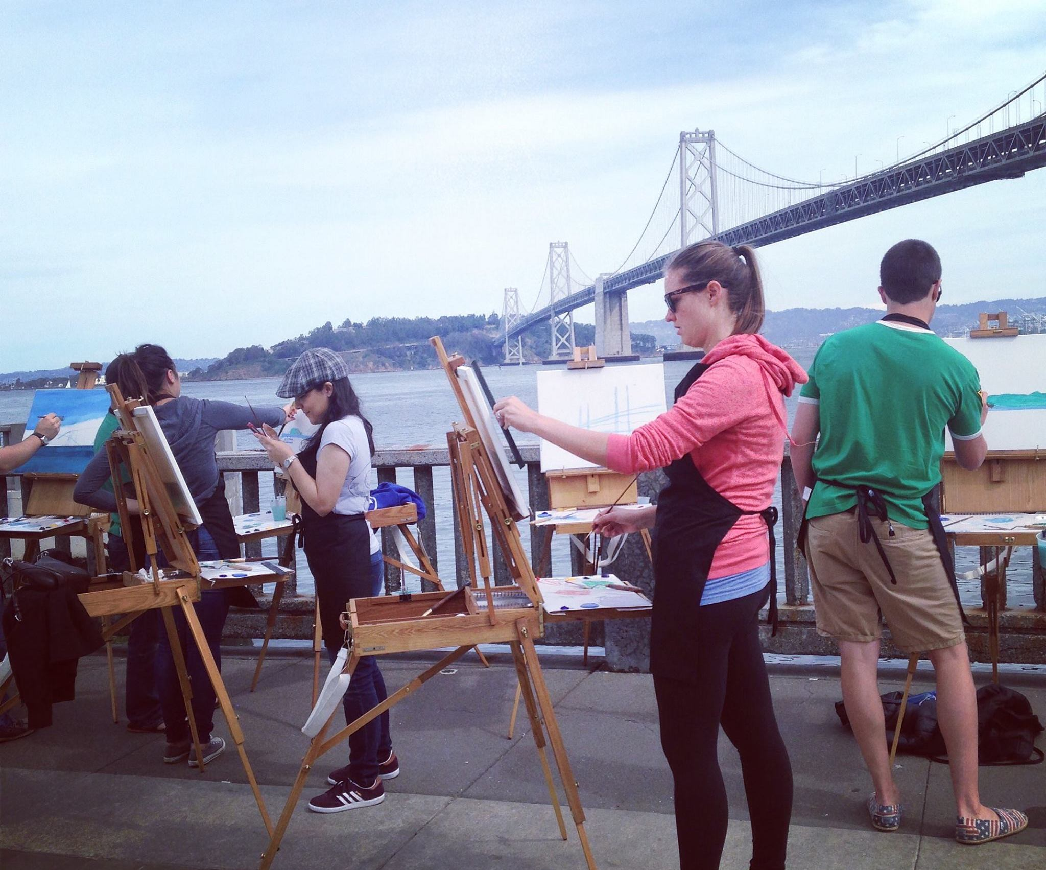 beyond canvas and their painting classes are a great way to meet individuals in the bay area