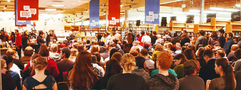 meet people and make friends in oregon in the largest bookstore in the world